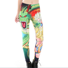Ball leggings online shopping - Fashion Women Leggings Classic Anime Dragon Ball Z Goku Vegeta Prints Pant Ladies Smooth Material Fitness Legging Yoga Pants