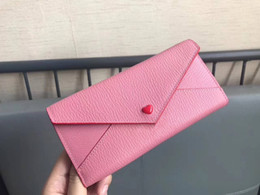 $enCountryForm.capitalKeyWord Canada - 2018 Free shipping Wholesale lady fashion long wallet famous MM brand women genuine leather purse hearts A three-fold envelope long wallets