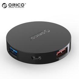 Hub led lamp For Sale - ORICO Ports USB HUB Mini Portable OTG Multi Micro Hub USB Splitter with LED Lamp for Macbook Laptops PC Tablet