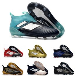 65355252488 discount 2018 new men high ankle soccer cleats ACE 17+ Purecontrol FG Dragon  slip on 3D prepare football cleats size39-45 with box