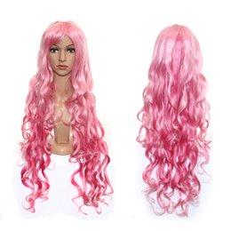 Ingrosso Parrucca piena sintetica dei capelli di sintonia dei capelli di 100cm delle donne lunghe ondulate dentellare sintetiche