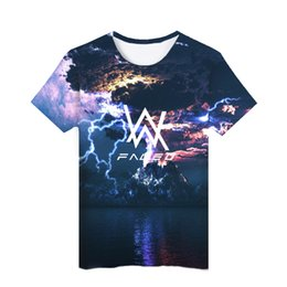 7c174a530 Alan Walker Faded 3D T-shirt Mens Sky Universe Summer Fashion Tees Short  Sleeved Tops