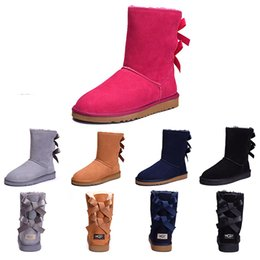 1439e1e62 Best discount Australia Classic WGG women winter boots chestnut black grey  pink designer womens snow boots ankle knee boot size 5-10 on sale