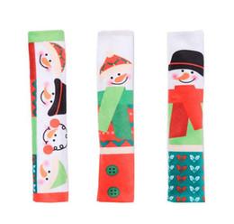 L handLes online shopping - 3PCS Set Snowman Kitchen Appliance Handle Covers Christmas Decor Kitchen Tools Microwave Door Refrigerator Handle Sets