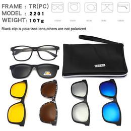 6f9ca01eb32 Square Retro Clip On Sunglasses Men Polarized Women Magnetic Night Vision Optical  Frame Set 5+1 Sun Glasses 2018 Lunettes Oculos
