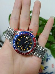 Vintage Mechanical Watch Movement NZ - Hot Sell watches Watch BP Factory 40 mm GMT Vintage 1675 Stainless Steel Red Blue Bezel Asia Black Dial 2813 Movement Mechanical Automatic