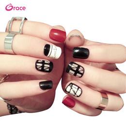 Nail Decorate Australia - B30 artifical false finger nail tips press on salon false nail fashion decorated false nail tips