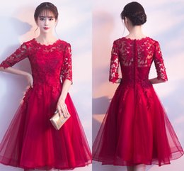 6b303c750810 Chinese sexy model online shopping - Little Red Short Party Homecoming  Cocktail Dresses Designed Chinese Bridal