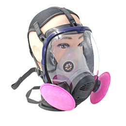 Painting Faces UK - TSAI Full Face Outdoor Cycling Mask Respirator Gas Mask Anti-dust Chemical Safety with Cotton Filter for Industry Painting