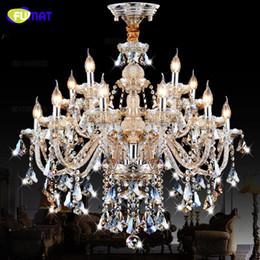 $enCountryForm.capitalKeyWord NZ - FUMAT Amazing large 15 arms Cognac crystal modern chandelier high quality living bedroom dinning light lamp