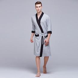 Modal Bathrobes Australia - Sexy Male Kimono Bathrobe Soft Modal Pajamas  For Men Dressing Gown Comfortable cfc587fd4