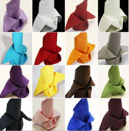 $enCountryForm.capitalKeyWord NZ - Table Napkin Diner Handkerchief Hanky Square Linen for Wedding Party Hotel Supplies Beige Yellow Black Red More Color can Choose