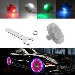 15 Modo prático de Energia Solar LED Car Auto Flash Wheel Rim Vae Cap Neon Luz Lâmpada Multi Color Silicone Decoração venda por atacado