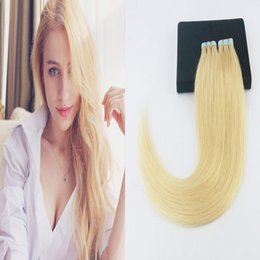 $enCountryForm.capitalKeyWord NZ - #613 Brazilian Blonde Color 100% Tape In Remy Human Hair Extensions 14-24Inchs Skin Weft Hair Extensions
