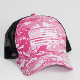 usa ball UK - Digital Camouflager USA Flag Embroidery Cap, Star Stripes Flags Mesh Back Trucker Cap,Dad baseball cap