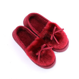 $enCountryForm.capitalKeyWord UK - Winter Home Slipppers Women Warm Plush Slipppers Style Female House Indoor Man Bathroom Slipppers Solid Adult Pantufa For 2019