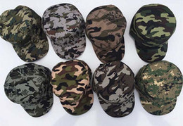 military hat wholesale Canada - 8-color hot men and women safe fashion camouflage baseball cap Summer outdoor sports hat free shipping