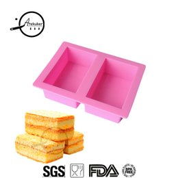 Discount soap making moulds - Atekuker Rectangle Shape Silicone Molds For Soap Silicone Form Cake Mold For Baking Ice Moulds Soap Making Form