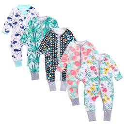 Newborn Boy Clothes for babies Toddlers Long Sleeve Floral Print Baby Girl  Children s Overalls Pyjamas Kids Clothing Girl Dropshipping e6ae700e4