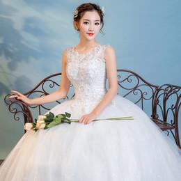 fe19e9ec6d2 Chinese Cheap Lace Wedding Dress A line V Neck Emboridery Flower Beaded  Flower Plus Size Wedding Dresses for pregnant women Floor length W46  inexpensive ...