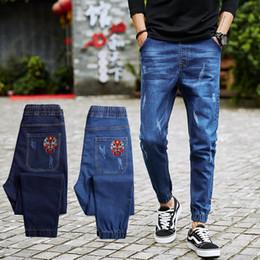 $enCountryForm.capitalKeyWord Canada - 2018 New Spring Stretch Denim Harem Pants Plus Big Size M-6XL 7XL 8XL Straight Denim Men Famous Brand Retro Ripped Blue Jeans