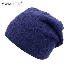 b7cd3136a2abb Autumn Winter Casual Knit Hat Women Solid Color Female Skullies Beanies  Caps Fashion Ladies Girl Hat 2018 New Arrival YWMQFUR
