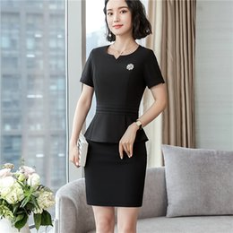 $enCountryForm.capitalKeyWord Canada - Elegant Uniform Designs Two Pieces With Tops And Pants Skirt Fashion Women Business Work Blazers Set Skirt Suits Trousers Sets
