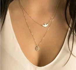 $enCountryForm.capitalKeyWord Australia - Europe and the United States women elegant dove pendants necklaces jewelry multilayer Metal pendant necklaces Free shipping EX457