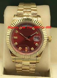 Mop diaMond online shopping - Luxury Watches Style Mens k Gold Watch MOP Diamond Dial Fluted Bezel mm Automatic Fashion Brand Men s Watch Wristwatch
