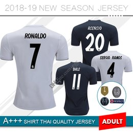 Discount real madrid green uniform - 18 19 Real Madrid Soccer Jersey home Away 2018 2019 Campeones Bale uniforms SERGIO RAMOS ISCO Football Shirts