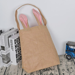 Easter bunny ear basket nz buy new easter bunny ear basket newest 12 colors cotton linen easter bunny ears basket bag easter gift packing easter handbag for child festival gift nz424 536 negle Image collections