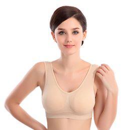 Großhandel Hohe Qualität 6 Farben nahtlose Sport-BH Mode sexy BH Yoga BH 6 Größe Womens BH