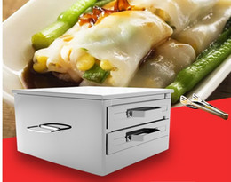 small metal plates 2019 - Household rice dumpling steamer steaming plate Small intestine drawer drawer two grid three pumping powder support cheap