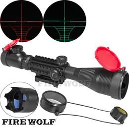 Rifles snipeR gun online shopping - x50 EG LLL Scopes Air Rifle Gun Riflescope Outdoor Hunting Telescope Sight Reflex SNIPER Scope Gun with Red Cover
