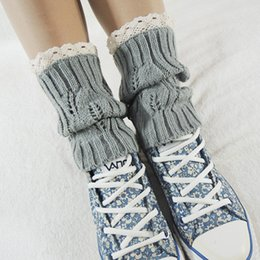 lace boot toppers Australia - 2017 Top Quality Women's Crochet Knitted Lace Trim Toppers Cuffs Liner Fashion Boot Cutton Cotton Happy Funny Socks