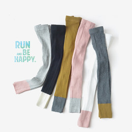 $enCountryForm.capitalKeyWord NZ - Spring and Autumn New Children's Pants Double Needle Cotton Knitting Pants Bottom Foot Coloured Girl Nine Pants
