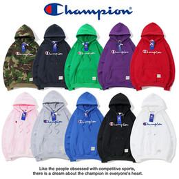 Champ Вышивка hoodies Осень Зима Модный бренд Мужчины Женщины Роскошные длинный рукав Толстовки Хлопок с капюшоном Пуловер свитер с кашемиром