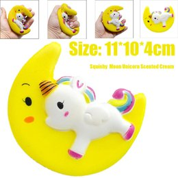 retail wholesales toys Australia - Jumbo Squishy Cute Moon Unicorn Scented Cream Slow Rising Squishies Squeeze Decompression Toys Anti-stress Children's toys Gift Toys