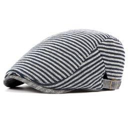 $enCountryForm.capitalKeyWord UK - HT751 British Style Mens Hats Striped Beret Hats for Men Unisex Newsboys Caps Stylish Gastby Cabbie Cap Fashion Ivy Cap