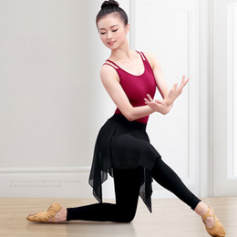 $enCountryForm.capitalKeyWord NZ - Girls Fitness Ballet Yoga Dance Pant Adult Ballet Training Pants With Chiffon Skirt Women Black Stretchy Dance Leggings