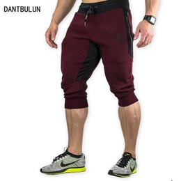 Joggers Shorts For Men Canada - 2017 New Summer Brand Mens Jogger Sporting Thin Shorts Men Black Bodybuilding Short Pants Male Fitness Gyms Shorts For Workout