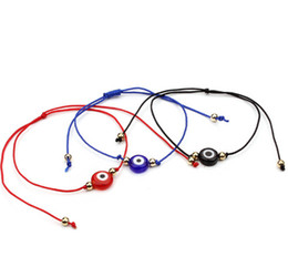 Wholesale 20pcs lot Lucky String Evil Eye Lucky Red Cord Adjustable Bracelet DIY Jewelry
