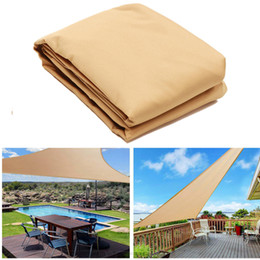Sailing ropeS online shopping - Outdoor Sun Shade Sails Canopy Patio Garden Awning Shelter UV Proof With Rope PE Cloth m