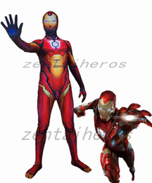 $enCountryForm.capitalKeyWord Australia - 3D printing Iron Man costume Cosplay Superhero Costume Lycra Zentai Bodysuit Halloween Party suit