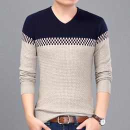 a0cf83ed6d7 v neck sweater men wear 2019 - 2017 New Year s Pullover Men Sweater Hombre  Casual Wear