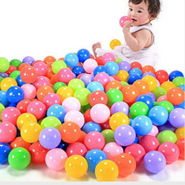 Black Swimming Toys UK - 5.5cm marine ball colored children's play equipment swimming ball Bath toy Non Toxic Colorful Ocean Ball LC828