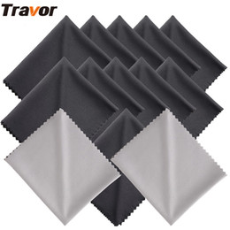 smartphones tablet 2019 - Travor 13Pcs 18*15cm Microfiber Cleaning Cloth for Camera Lens cleaning LED Screens Tablets Smartphones 11 Black+2 Gray