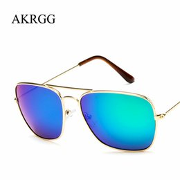 $enCountryForm.capitalKeyWord NZ - Vintage Big Square Frame Sunglasses For Women Men Clear Colored Sun Glasses Cute Ladies Eyewear oculos UV400
