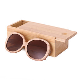 handmade sunglasses Canada - 2018 New fashion Women Handmade Wooden Polarized Sunglasses bamboo wood sunglasses oculos de sol feminino Dropshipping