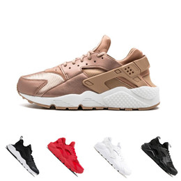 Discount outdoor sports lighting 2018 Air Huarache 4.0 1.0 Rose Gold Running Shoes Triple white black Men Women sports Sneakers Sport Huaraches Shoes Tra